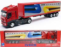 Модель грузовая 15613 IVECO STRALIS метал. 1:43, Iveco Stralis с полуприцепом (2002)