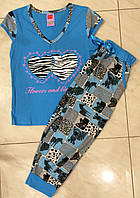 Хлопковая пижама женская с капри Dream Weel размеры S,XL