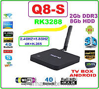 CS Q8 RK3288 NEW 2016 Android tv 4ядра 2гб DDR3 LAN USB+НАСТРОЙКИ I-SMART