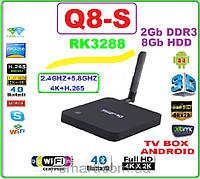 CS Q8 RK3288 NEW 2016 Android tv 4ядра 2гб DDR3 LAN USB+НАСТРОЙКИ I-SMART