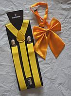 Набор подтяжки широкие и галстук-бант, фото 1