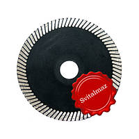 Пила, круг, диск алмазный Ф125 мм. китайский выпуклый для художественных и криволинейных работ по камню.