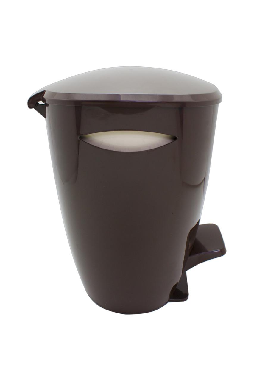 Ведро для мусора серия Фелиа цвет коричневый/бежевый
