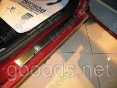Накладки на дверные пороги Fiat Fiorino