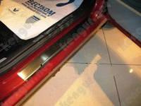 Накладки на внутренние пороги Honda Accord