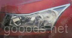 Хром накладки на фари Chevrolet Cruze