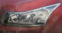 Хром накладки на фары Chevrolet Cruze