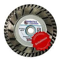 Алмазный универсальный круг зачистной Ф125 мм. для резки и зачистки гранита габбро.