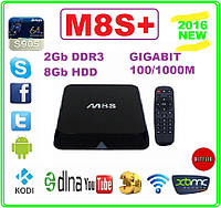 M8S+ Android tv 4ядра 2гб DDR3 LAN USB AV-out пульт +НАСТРОЙКИ I-SMART