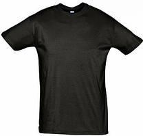 Мужская футболка для печати х/б цвет ЧЕРНЫЙ
