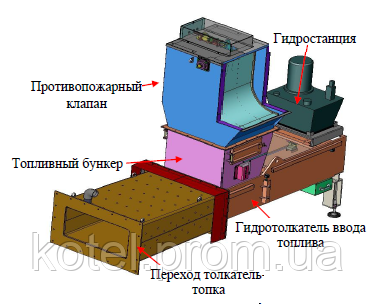 Промежуточный бункер парового котла Комконт на 4 тонны пара в час