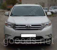 Защита бампера Toyota Highlander, одинарный ус