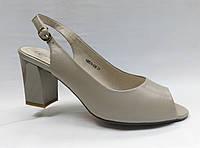 Босоножки кожаные на устойчивом каблуке Berkonti, фото 1