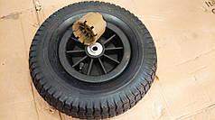 Комплект резиновых колес диаметром 31 см для детского электромобиля с проставками под редуктора