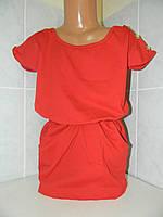 "Платье ""Пуговка"", стр.кулир, р.98,104,110см"