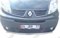Защита переднего бампера Renault Trafic, одинарная