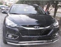 Защита переднего бампера Hyundai IX35, двойная
