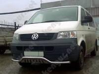 Защитная дуга по бамперу Volkswagen Transporter, с пластиной
