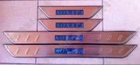 Накладки на пороги хромированные Hyundai Sonata, с подсветкой