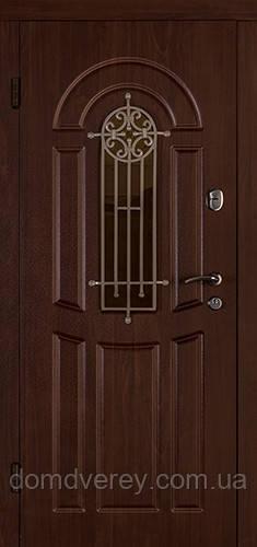 Двери входные металлические Флора орех коньяк Двери Белоруссии