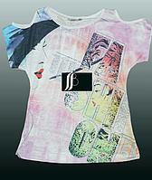 Красивая стильная футболка  для девочки