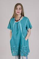 Женская туника из натуральной ткани с карманами , фото 1