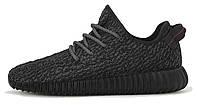 Мужские кроссовки Adidas Yeezy Boost 350 Pirate Black, черные, адидас изи буст
