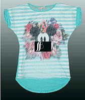 Красивая стильная футболка 3D для девочки