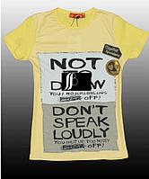 Красивая стильная футболка  для девочки,р.128-164