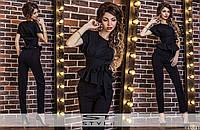 Костюм женский черный блузка и штаны