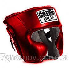 Шлем боксерский Green Hill ''SPARRING'' красный М