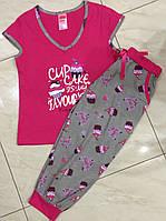 Хлопковая пижама женская с капри Dream Weel размеры M,L