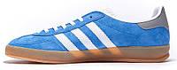Мужские кроссовки Adidas Gazelle Indoor Blue, адидас