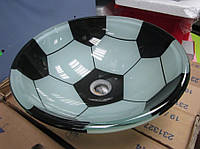 """Эксклюзивный умывальник """"Мяч"""" стеклянный круглый 420 мм (HR 8356)"""