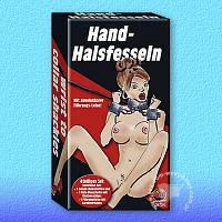 Бдсм бондаж наручники Hand-Halsfesseln mit Leine