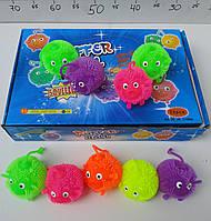 Светящийся мячик-ежик W02-1141 5 цветов, мячики ежики для детей, массажные мячики ежики, игрушка мячик