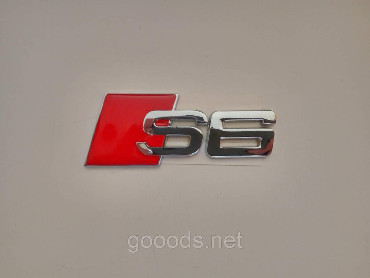 Металлическая эмблема S6 на Audi A6 Sline