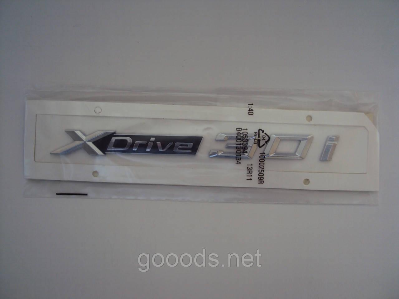 Надпись Xdrive 3.0i на BMW, пластик