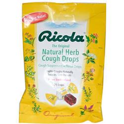 Натуральные травяные леденцы от кашля Ricola 21 шт., Упаковка