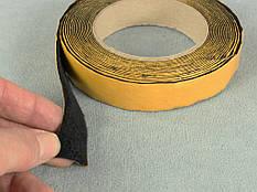 Антискрип М1 Черный, лента 25мм*6м , уплотнительный, проклодочный материал  Маделин