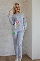 Женский спортивный костюм с бабочками и карманами