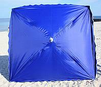 Зонт торговый, садовый 2,5х2,5м. Мощный зонт для торговли на улице!
