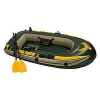Надувная двухместная лодка Intex комплект 68347