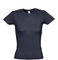 Женская футболка для печати х/б цвет СИНИЙ