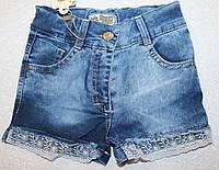Джинсовые шорты на  девочку  3,4,5,6,7 лет