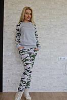 Женский камуфляжный спортивный костюм с карманами , фото 1