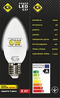 Лампа светодиодная G-tech C37-E27-6W-500lm-теплый