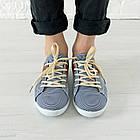Кеды женские 36 размер маломерные Woman's heel темно-синие (О-714), фото 2