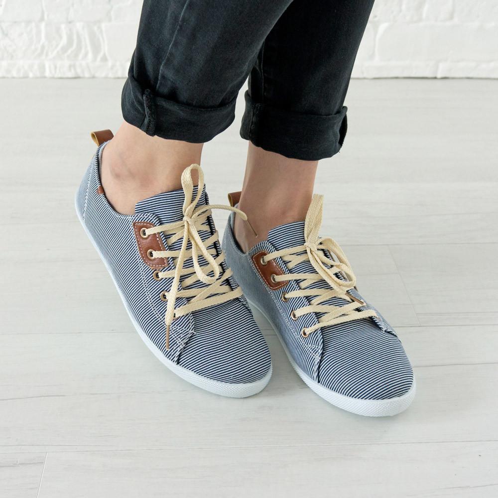 Кеды женские 36 размер маломерные Woman's heel темно-синие (О-714)
