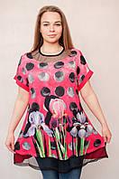 Женская оригинальная туника декорированная стразами в расцветках
